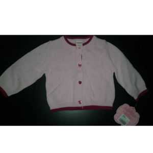 New With Tags Girl's Pink Sweater Size 6 Months